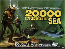 20,000 Leagues Under The Sea - Kirk Douglas - A4 Laminated Mini Movie Poster