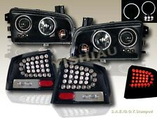 06-08 DODGE CHARGER HALO CCFL LED PROJECTOR HEADLIGHTS+LED BLACK TAIL LIGHTS NEW