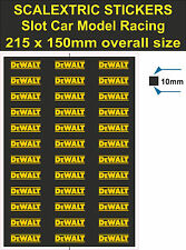 Slot car Scalextric, DeWALT sticker, Model racetrac Logo decal adhesive vinyl T3