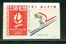 France Olympische Spiele Olympic Games 1992 Imperforated Alpin Skiing MNH
