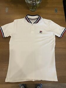 Fila Polo Shirt Mens Size Small, 80s Retro Look, Little Stain On Back