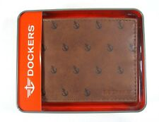 Dockers Mens Front Pocket Wallet Bifold 31DP220014 Brown New NIB $30