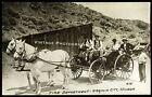 Real Photo RPPC Horses Fireman Fire Department Virginia City Nevada