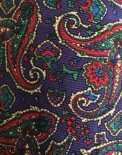 Mens Polo Ralph Lauren Purple Green Red Paisley Silk Tie
