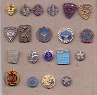 lot 20 pins pin badge anstecknadel YUGOSLAVIA MILITARY SCHOOLS JNA ARMY SFRJ