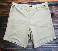 Dockers Relaxed Fit Flat Front Mens Golf Chino Shorts Size 38 Khaki Polyester