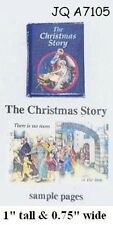 THE CHRISTMAS STORY BOOK Dollhouse Miniature 1:12 Scale