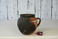 Vintage clay pot / Rustic ceramic bowl / Traditional ceramic vessel / Home decor