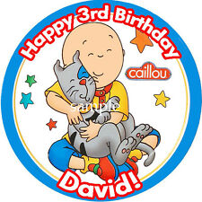 CAILLOU Round Edible Birthday CAKE Image Icing Topper Party Decoration