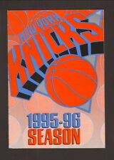 New York Knicks--1995-96 Pocket Schedule