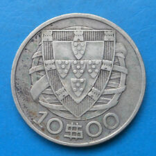 Portugal 10 escudos argent 1934 km 582 ASSEZ RARE