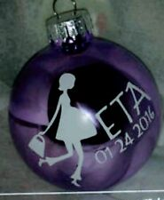 Expectant Pregnant Mommy CHRISTMAS ORNAMENT Personalized Glass Ball