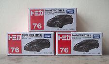 Tomica #76 Honda Civic Type R (black) x 3 pieces