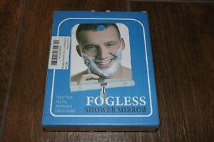 NIB New Fogless Fog Free Shower Shave Mirror w Razor Hook. Durable! Not Glass!
