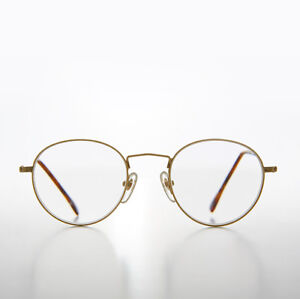 Gold Round Reading Glasses Polo Shape 3.25 diopter - Hodges