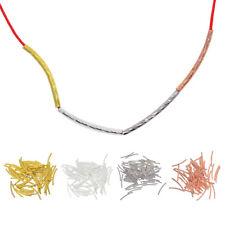 200 Stück Graviert Gebogene Röhren Spacer Metallperlen Röhrchen Tube