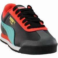Puma Roma Basic + Lace Up Sneakers  Casual    - Black - Mens