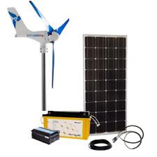 Kit híbrido viento solar 100W/400W/12V Con Generador & AGM Batería 165Ah silentwind
