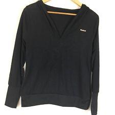 Reebok Women's Easytone Hoodie Long Sleeve Top Shirt with Hood Black Size M