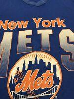 Vintage New York Mets Shirt Mens Small 1992 Skyline Throwback Retro Womens Large