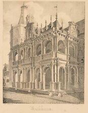WÜNSCH; WEYER, Kölner Rathaus mit Rathauslaube, Lithographie, 1827