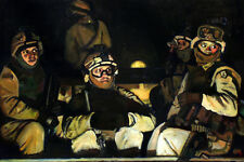 """Original Oil painting """"A Night Operation"""" by Qi Debrah,Military,Size 24""""x36"""",US"""