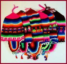 Baby Kindermütze Bommel Ohrenwärmer warm Hirtenmütze Ethno Peru Gr.40-44 KU
