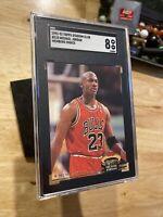 Michael Jordan SGC 8 Stadium Club 1992 #210 Chicago Bulls INVEST Last Dance NR