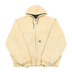 Vintage CARHARTT Quilt Lined Active Jacket   XL   Workwear Canvas Hood Duck