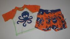 6-9 Months Swim Trunks & Shirt Set Octopus, Perfect for beach or pool SPF 50 nwt