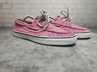 Sperry Top Sider Womens Pink Boat Shoes Size 9m