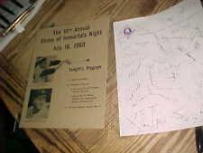 ORIOLES 1969 SHRINE OF IMMORTALS NIGHT - Game VS INDIANS  -  MINT 3-Fold Program
