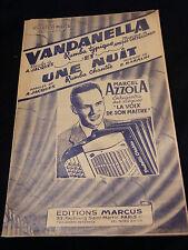 Partition Vandanella Castellengo Une nuit Baraldi Azzola Music Sheet