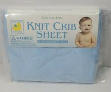 """New Especially for Baby Soft Blue 100% Cotton Fitted Crib Sheet 28""""x52"""""""