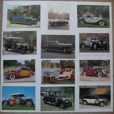 12 postcards showing Rolls Royce motor cars
