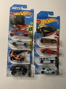 Hot Wheels Lot 8 Cars Various Long Cards Treasure Hunts VGC *HW2