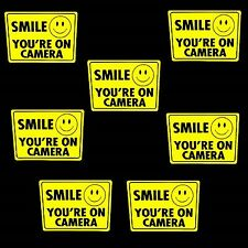 LOT OF SMILE YOU'RE ON STORE SECURITY VIDEO CAMERAS OUTDOOR WARNING STICKER