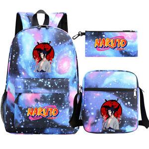 Anime Naruto Design Backpack School Bags Shoulder Bag and Pencil Bag Kids Gift