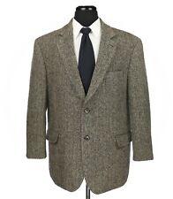Paul Fredrick Harris Tweed Wool Sport Coat Gray Herringbone Recent Size 46S