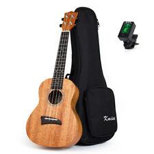 Ukulele Concert Solid Mahogany Ukelele 23 Inch Hawaii Guitar W/Gig Bag Tuner