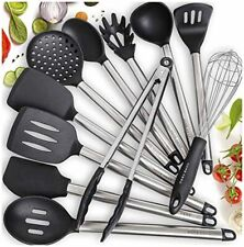 Home Hero 11 Silicone Cooking Utensils Kitchen Utensil Set - Stainless Steel Sil