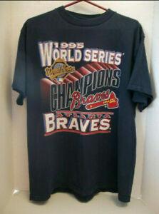 Atlanta Braves Vintage 1995 World Series Champi0ns T Shirt Vintage Men Gift Tee