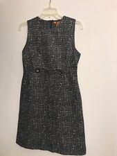 Tory Burch Shift Dress Mini Black Stipple print Cotton/wool/silk Size 6