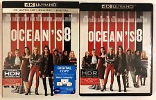 OCEANS 8 4K ULTRA HD BLU RAY 2 DISC SET + SLIPCOVER SLEEVE FREE WORLD SHIPPING