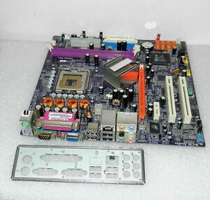 ECS EliteGroupECS RC410-M2  Sockel 755 Rev:1.0 Mainboard with backplate