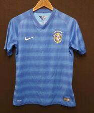 BRAZIL NATIONAL TEAM 2014/2015 AWAY FOOTBALL SHIRT NIKE SIZE 13 - 15 YEARS OLD