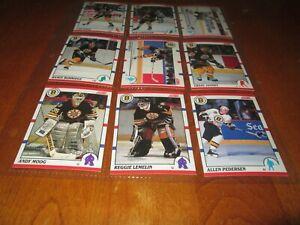 1990-1991 score canadian BOSTON TEAM SET (27)