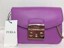 NWT Furla Metropolis Mini Leather Cross Body Bag Lilla $298 869424