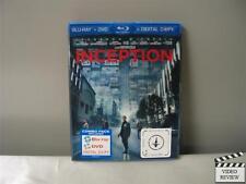 Inception (Blu-ray/DVD, 2010, 2-Disc Set)  Tom Hardy, Ellen Page, Cillian Murphy