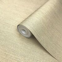 Wallpaper yellow Gold Metallic Textured Plain Modern stria lines wallcoverings
